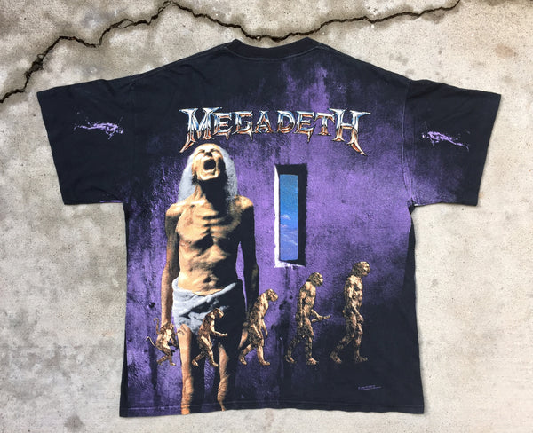 Megadeth '92 'Countdown To Extinction All Over Print' XL