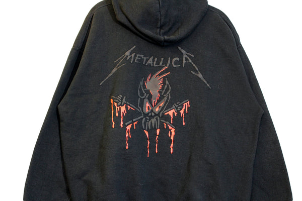 Metallica 90s 'Black Album / Scary Guy' L/XL Hoodie