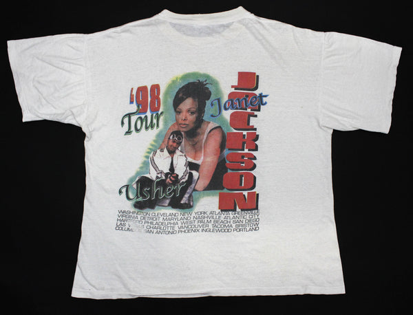 Janet Jackson '98 'The Velvet Rope Tour' Boxy XL/XXL *Paper Thin*