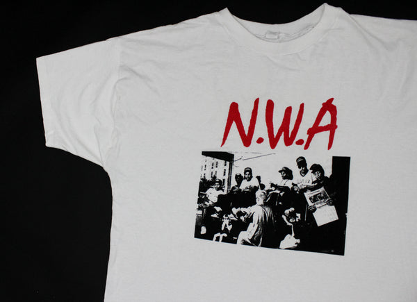 N.W.A '90 'Gangsta Gangsta / 100 Miles And Runnin Bootleg' XL/XXL *Rare*
