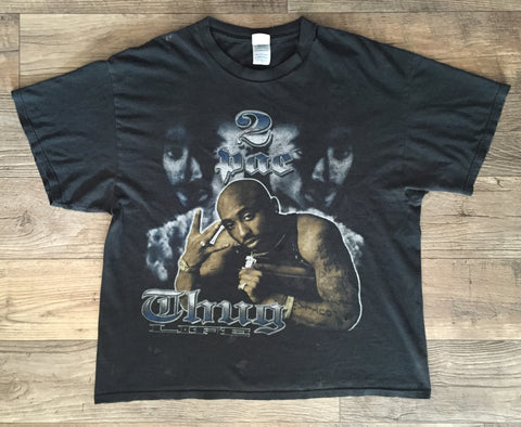2Pac '00s Tribute XL/XXL *Distressed*