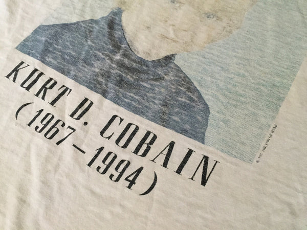 Kurt Cobain 1994 Childhood Portrait Tribute XL *Rare* *Thrashed*