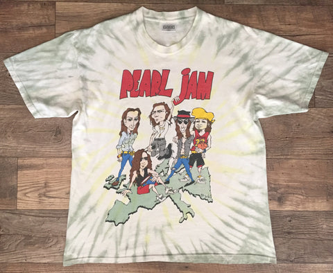 Pearl Jam 90s 'World Jam Tie Dye' XL