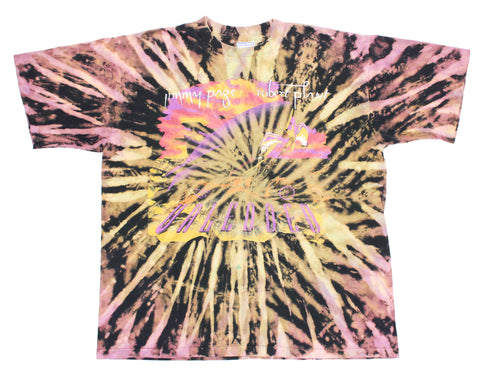 Jimmy Page & Robert Plant '95 'Unledded / No Quarter Tie Dye' XL *1 of 1*