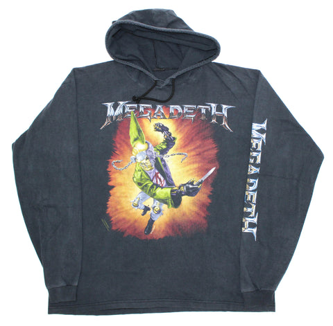 Megadeth '93 'Punk Vic' XL Hooded L/S *Heavy Fade*