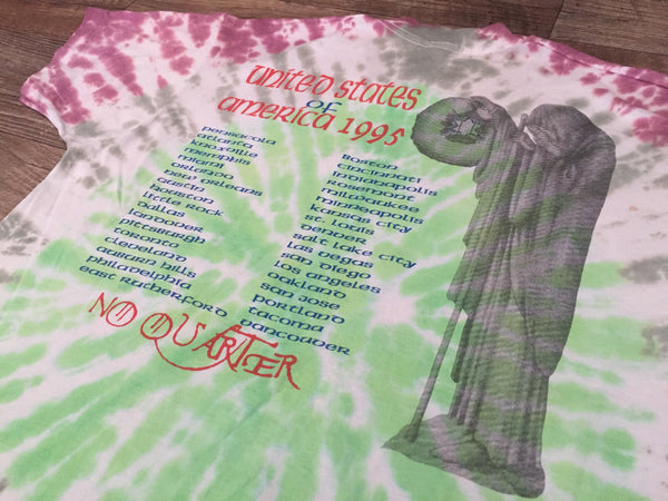 Jimmy Page & Robert Plant 'Unledded / No Quarter Tie Dye' XL *Rare*