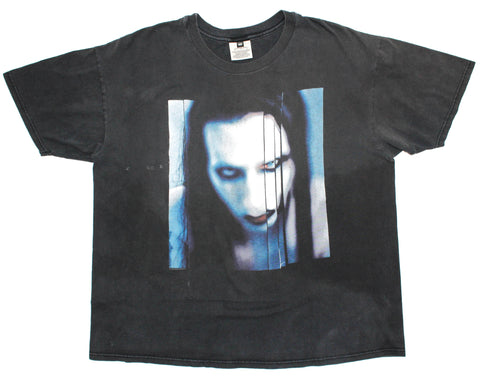 Marilyn Manson 1998 'Long Hard Road Out Of Hell' Boxy XL *Heavy Fade*
