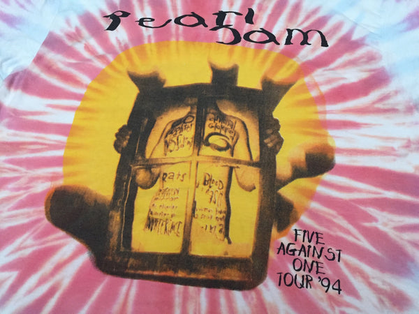 Pearl Jam '94 'Five Against One Tour Tie Dye' XL