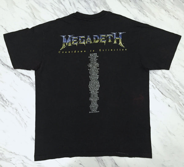 Megadeth '92 'Grim Reaper Vic' XL/XXL *Faded/Distressed*