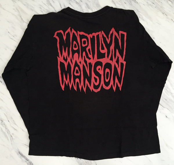 Marilyn Manson '94 'Satanic Army' XL L/S *Faded/Distressed*