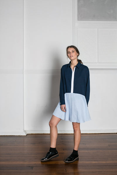 BOBBY SHIRT DRESS - BLUE
