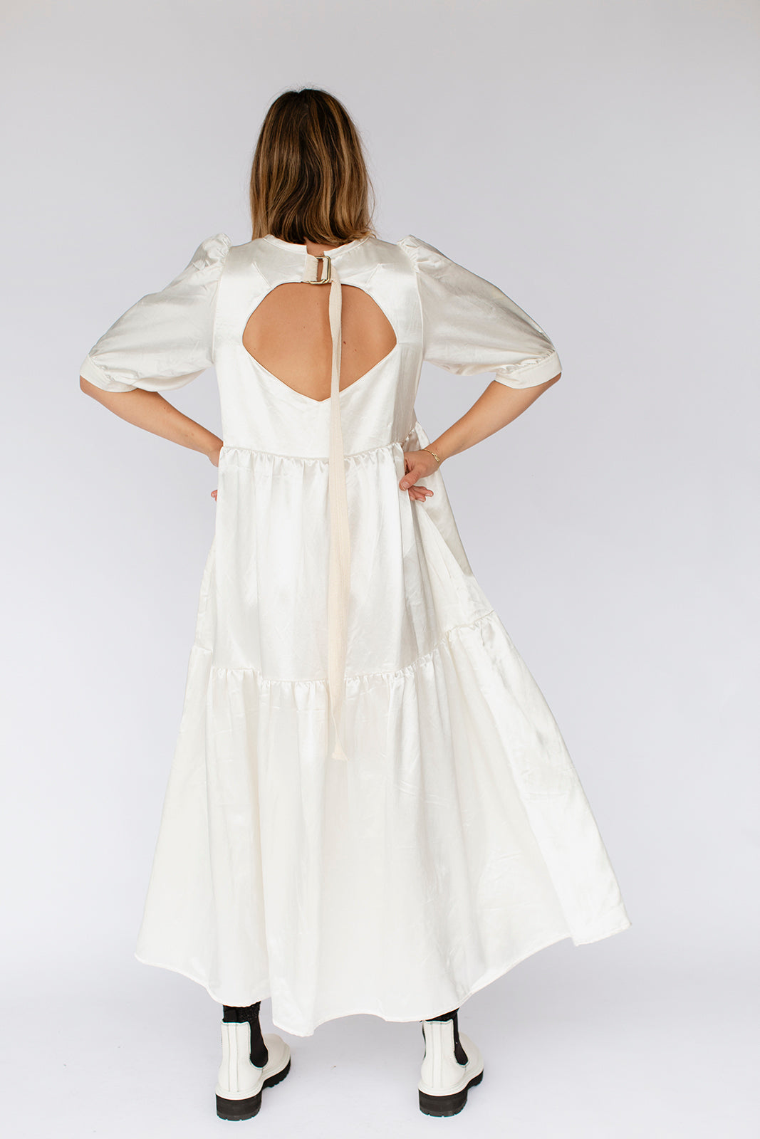 ESTHER DRESS - CREAM SATIN (pre-order)