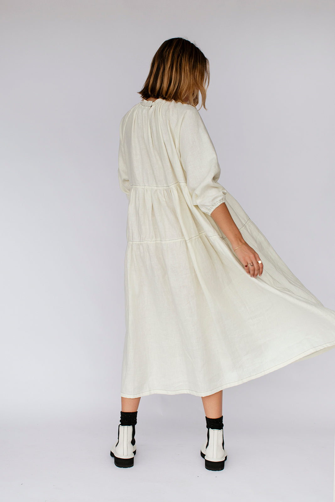 MARLEY DRESS - MARSHMALLOW