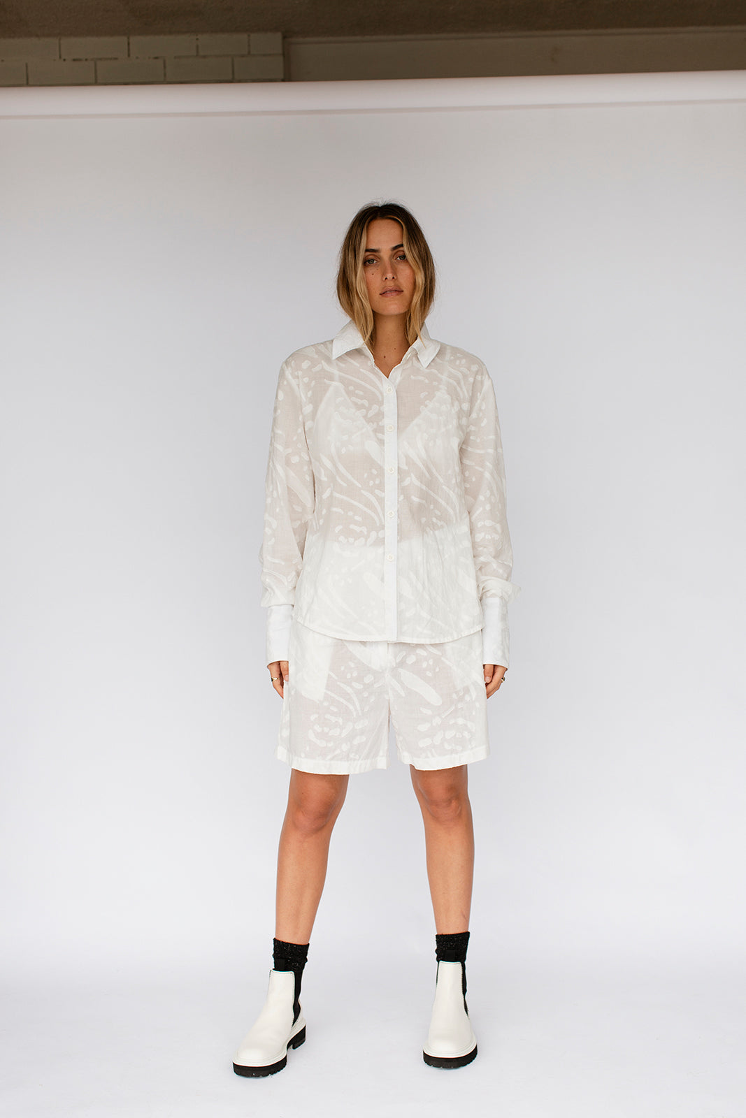 JULIETTE SHIRT - WHITE TEXTURE