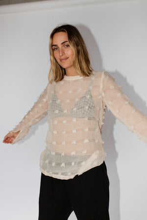 FRANKIE SPLIT TOP - CREAM