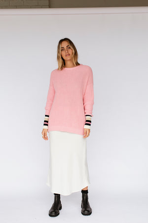 LEXI KNIT JUMPER - LOLLY PINK (pre-order)