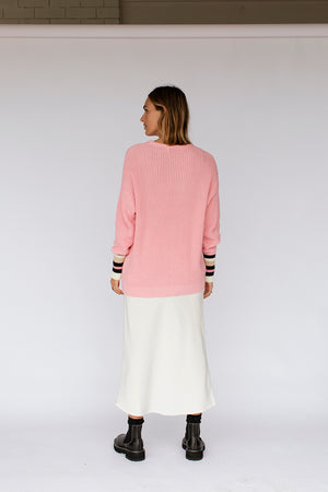 LEXI KNIT JUMPER - LOLLY PINK