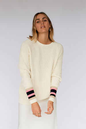 LEXI KNIT JUMPER - OFF WHITE (pre-order)