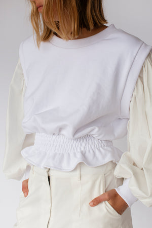 BLAKE CONTRAST JUMPER - OFF WHITE