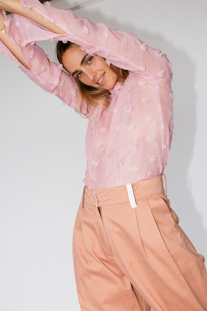 FRANKIE SPLIT TOP - PINK