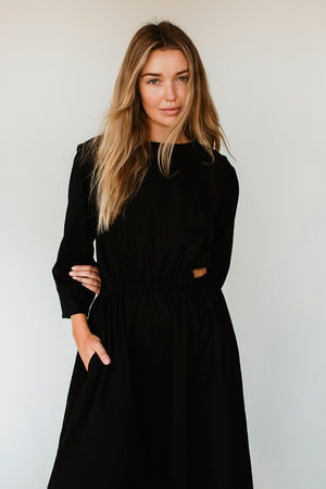 BELLE CUT OUT DRESS - BLACK