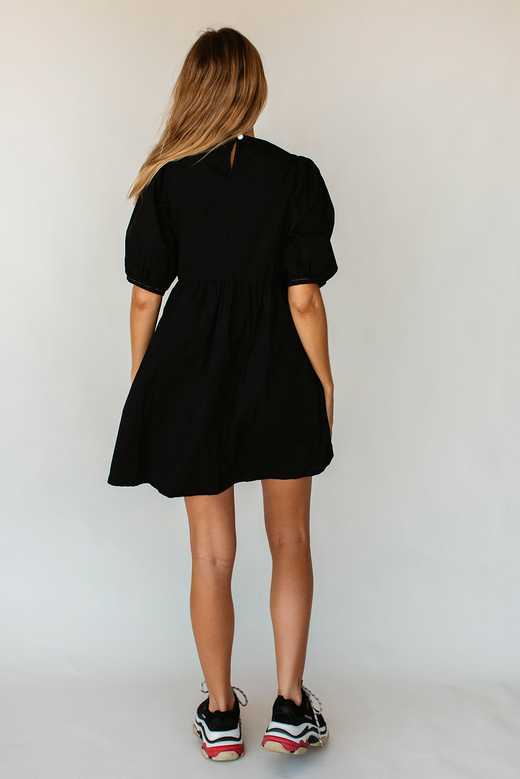 DARLA MINI DRESS - BLACK POPLIN (pre-order)