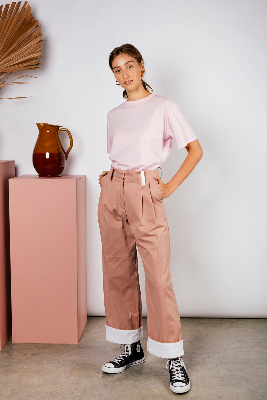 OLIVIA PANT - DUSTY ROSE