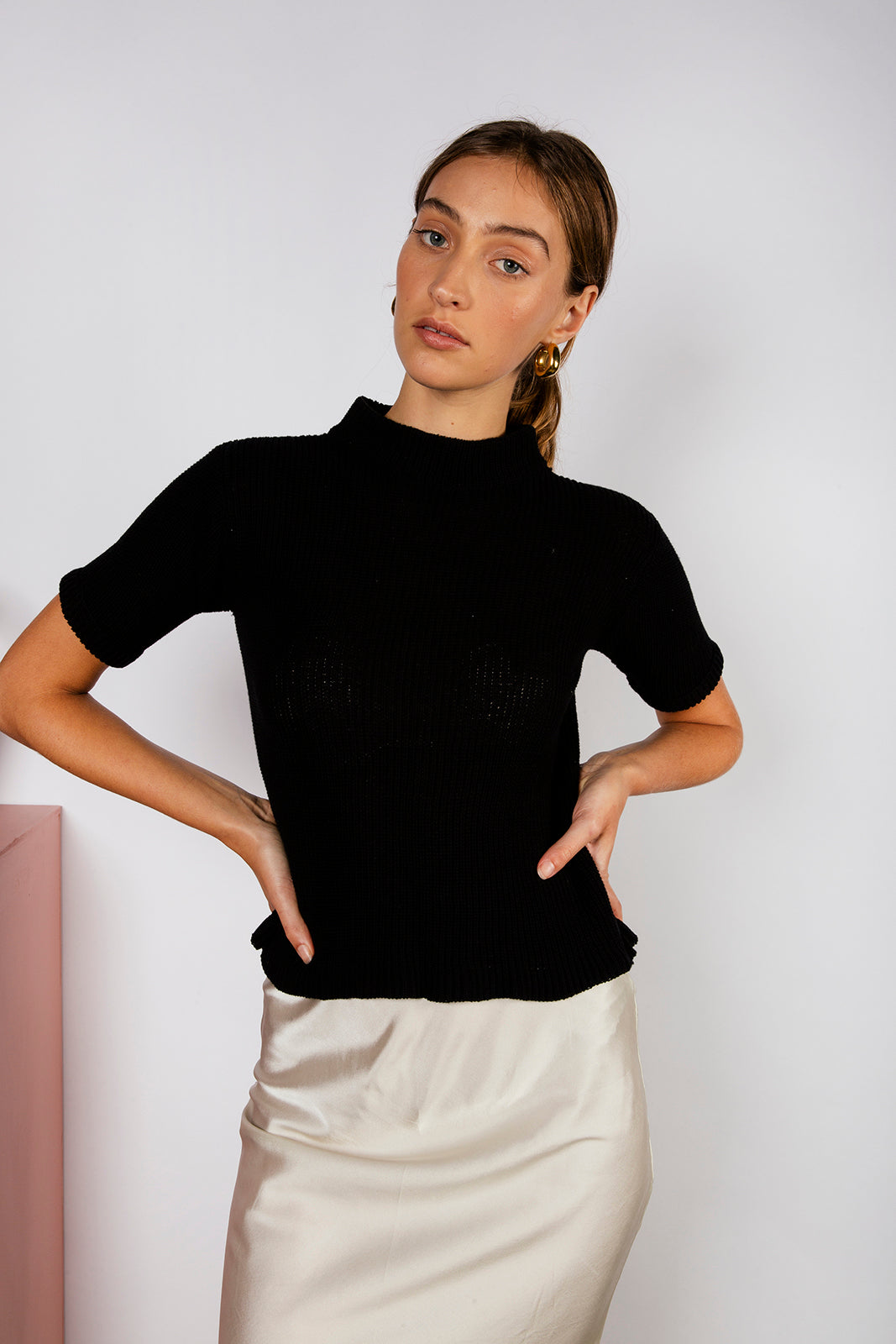 PR SAMPLE PITERA KNIT TEE - BLACK