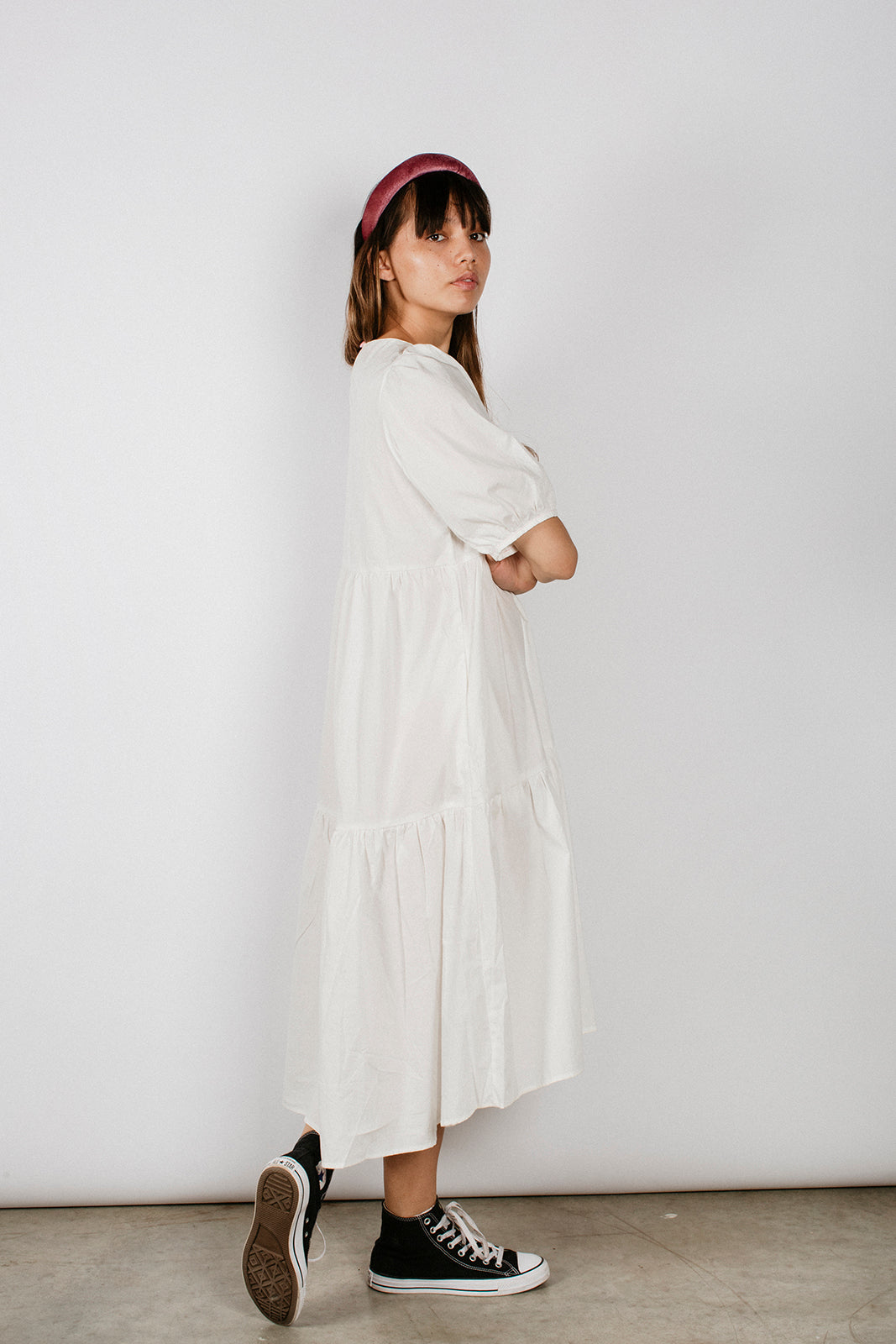 DARLA DRESS - WHITE