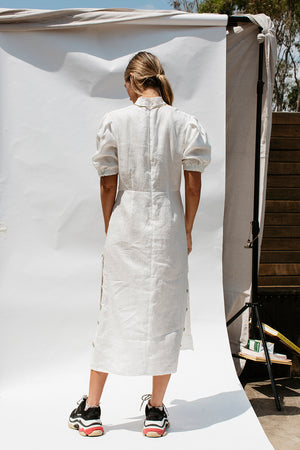 LUCIEN DRESS - OFF WHITE