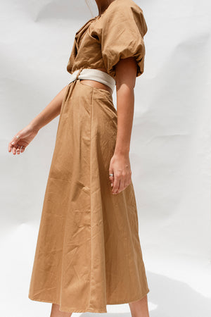 DIVISION DRESS - CHESTNUT
