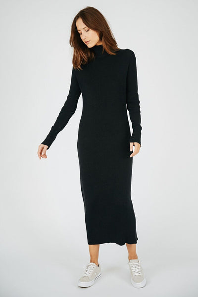 NELLA KNIT DRESS - BLACK