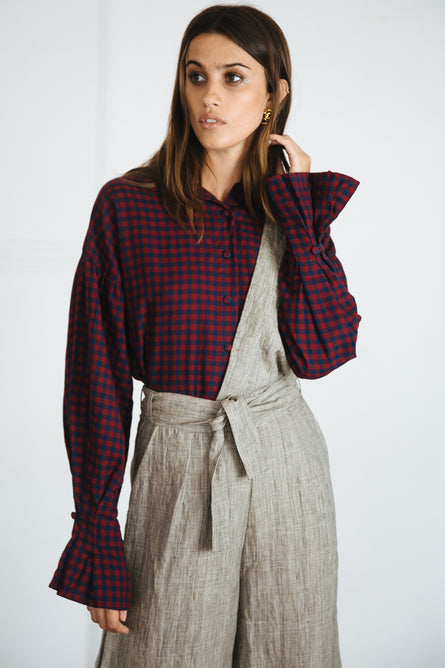 HUNT JUMPSUIT- HOUNDSTOOTH