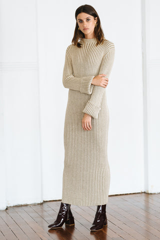 INCY KNIT DRESS - NATURAL