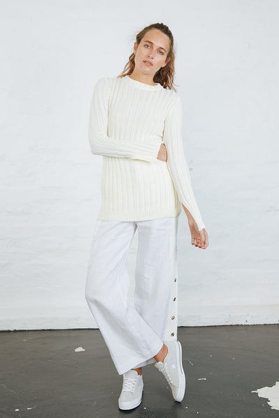 KHAN KNIT JUMPER - OFF WHITE