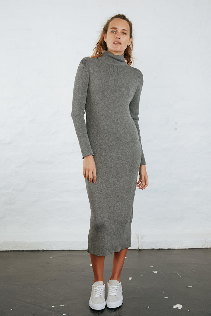 NELLA KNIT DRESS - GREY