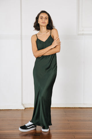 DIA MIDI SLIP DRESS