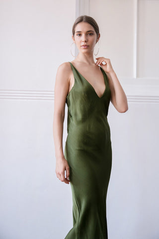 MOONRISE DRESS - OLIVE
