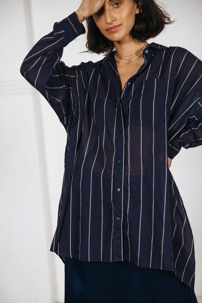 TOMMY SHIRT - NAVY STRIPE