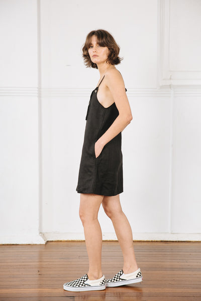 JACE MINI DRESS -  BLACK
