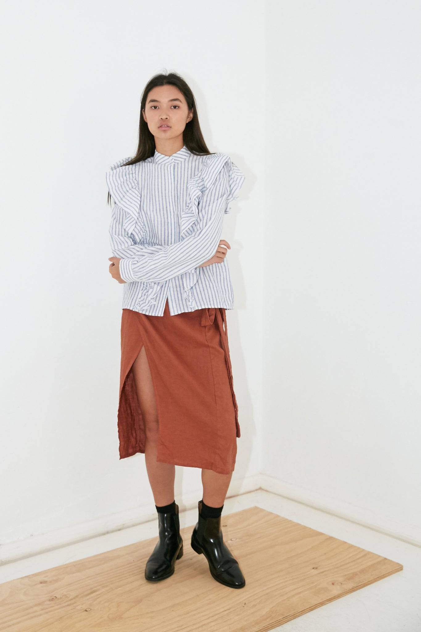 PEPPA WRAP SKIRT - RUST