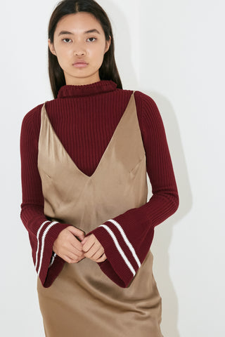 INDIGO KNIT TOP - MAROON