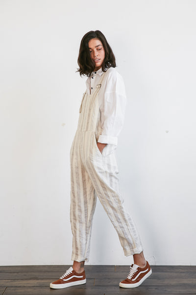 RAVEN JUMPSUIT - CREAM STRIPE