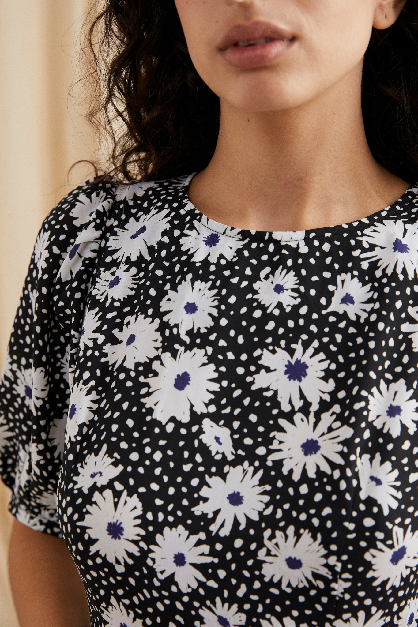 Ronnie tiered dress  - Daisy print