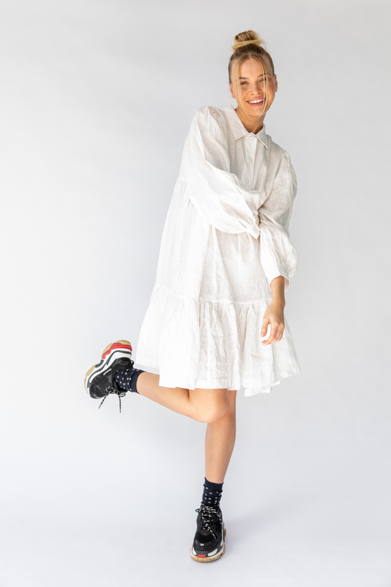 CAVES DRESS - OFF WHITE