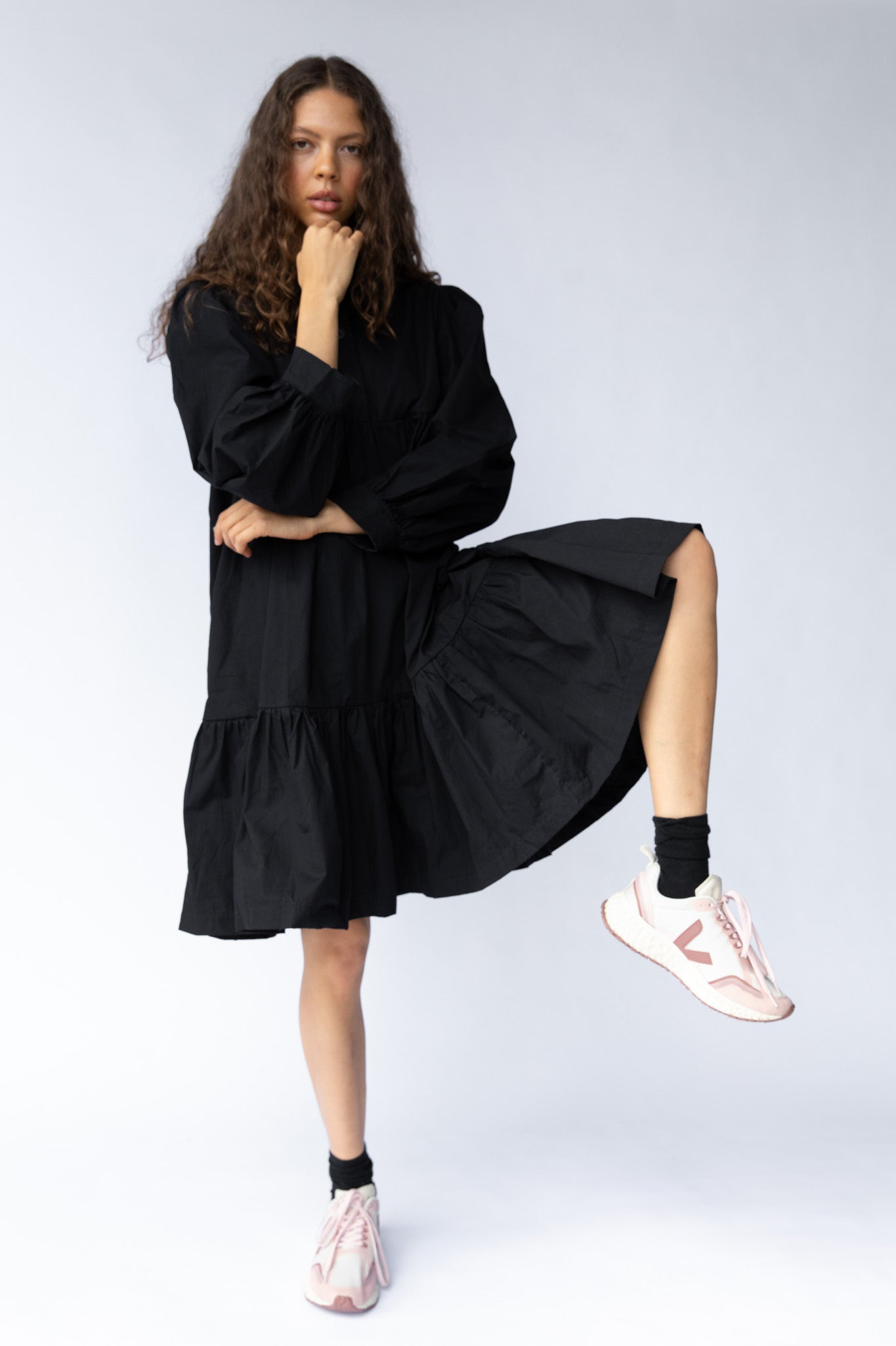 CAVES DRESS - BLACK