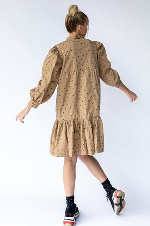 CAVES DRESS - MUSHROOM EMBROIDERY