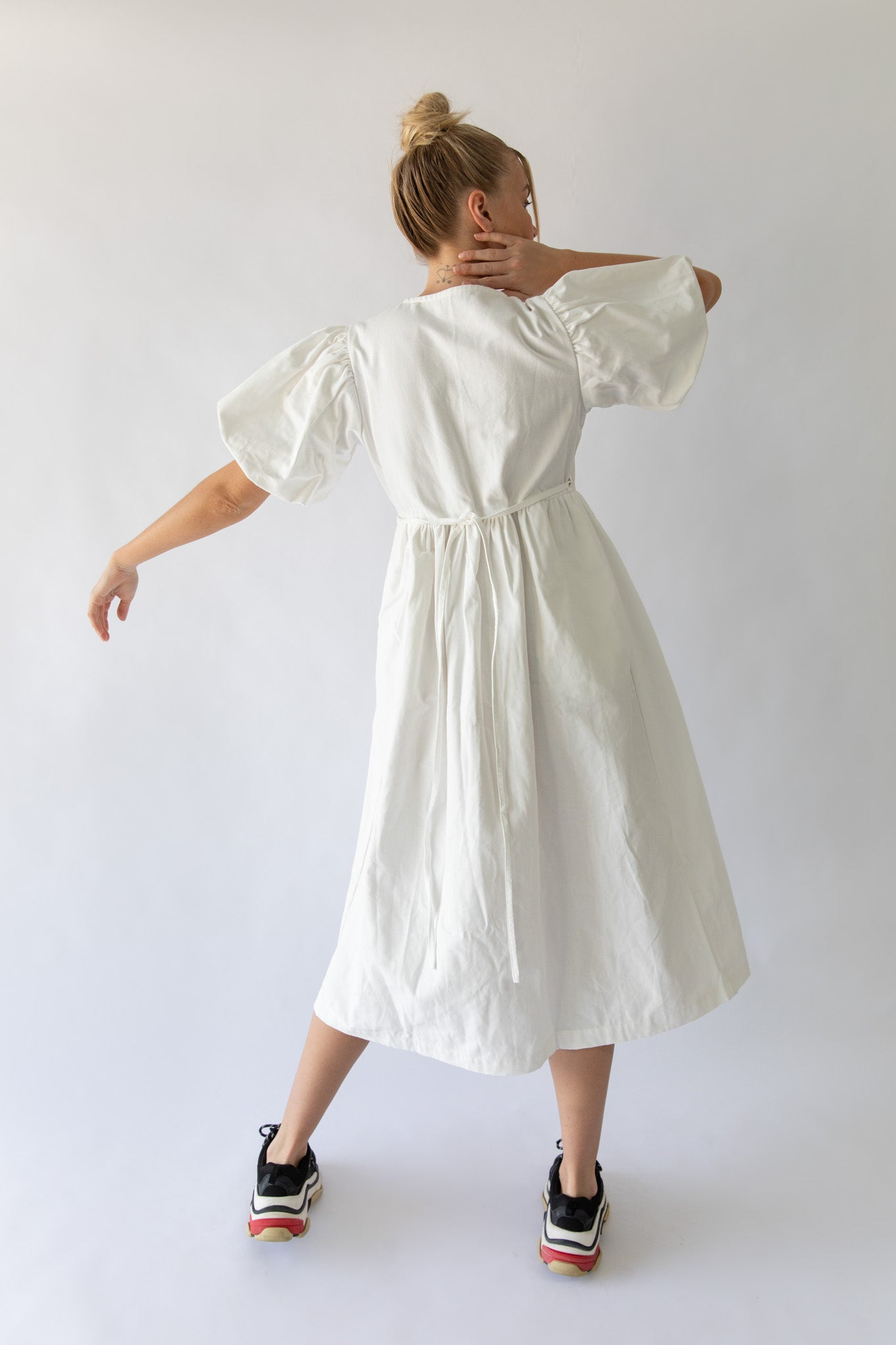 KAYO WRAP DRESS - OFF WHITE