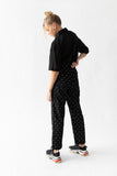 DALLAS PANT - BLACK EMBROIDERY