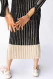 KHAN KNIT DRESS - BLACK